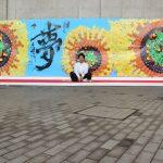 新成人1000人で作った巨大アート in 修羅の国、北九州市成人式 2017